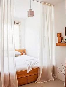 Deco Chambre Bois : id e d co chambre adulte nos astuces pour les petits espaces ~ Melissatoandfro.com Idées de Décoration