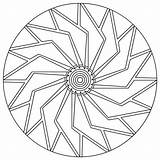 Spiral Mandala Pages Coloring Template sketch template