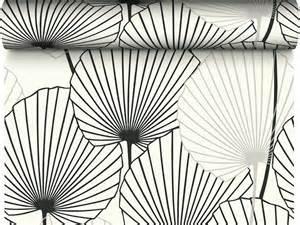 Papier Peint Palmier Noir Et Blanc by Papier Peint 100 Intiss 233 Motif Feuille De Palmier Noir