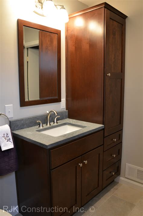 bathroom vanity  tall side cabinet google