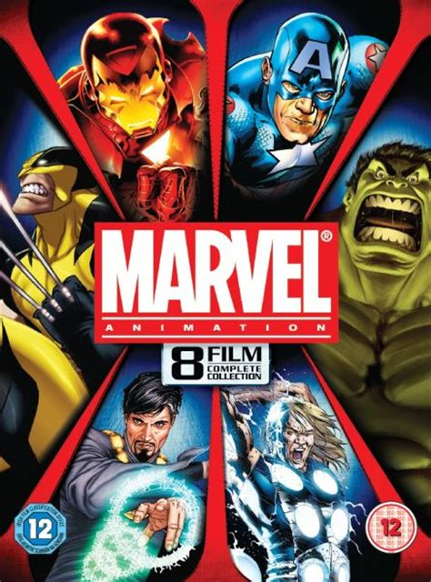 marvel complete animation collection 8 movies dvd zavvi