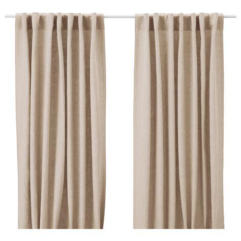 Aina Curtains, 1 Pair Beige 145x250 Cm Ikea