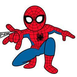 draw spiderman cartoon drawing lesson