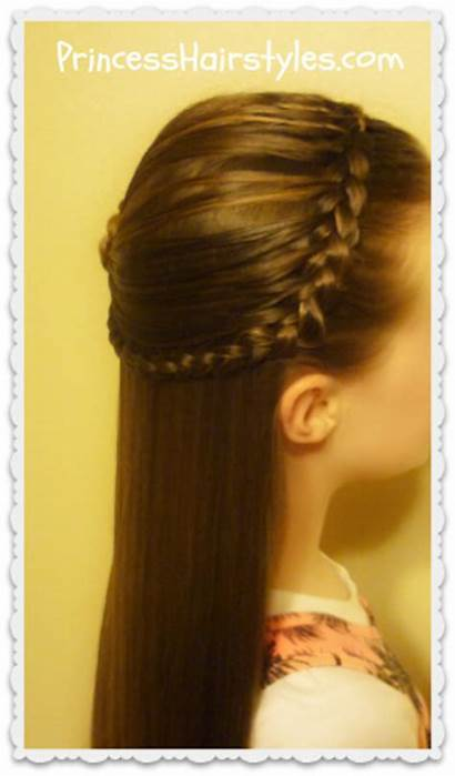 Braided Headband Half Hairstyle Feathered Hairstyles Rosette