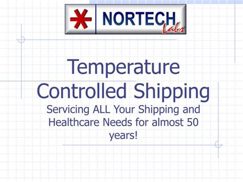 Temperature Controlled Shipping Servicing All Your
