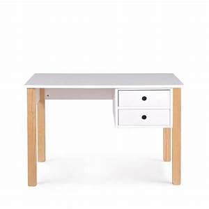 Bureau Pin Massif : bureau enfant pin massif blanc tipi by drawer ~ Teatrodelosmanantiales.com Idées de Décoration