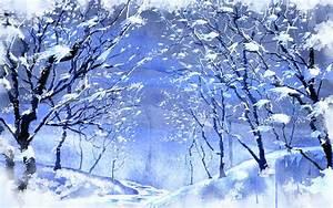 Snowy forest wallpaper #4687