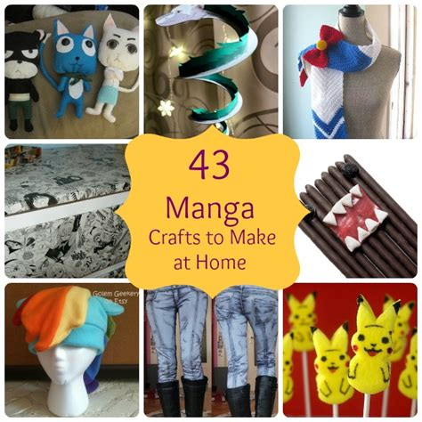 crafts to make at home big diy ideas 43 simple anime crafts to make at home