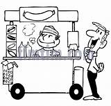 Stand Drawing Hotdog Dog Drawings Drink Cooking Timtim Bw Clipartmag Category sketch template