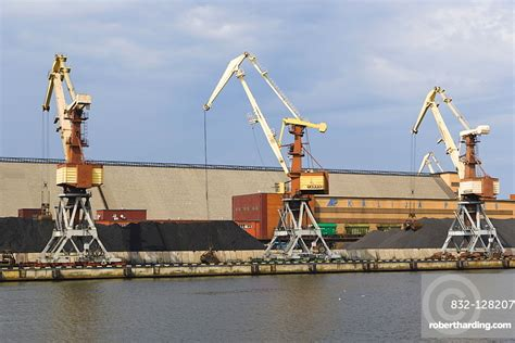 View of the port, Ostas   Stock Photo
