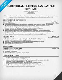 electrical foreman resume exles industrial electrician resume sle resume ideas resume exles construction