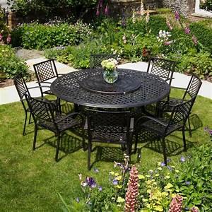 Table Ronde Aluminium : maisie meubles de jardin table ronde de 180 cm aluminium ~ Teatrodelosmanantiales.com Idées de Décoration
