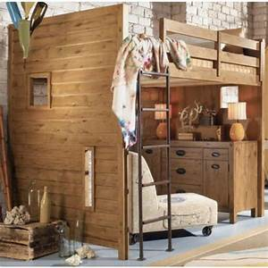 Lit Maison Bois : le lit mezzanine et bureau plus d 39 espace ~ Teatrodelosmanantiales.com Idées de Décoration