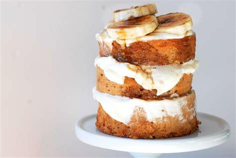 buttermilk banana cake   cream cheese swiss meringue