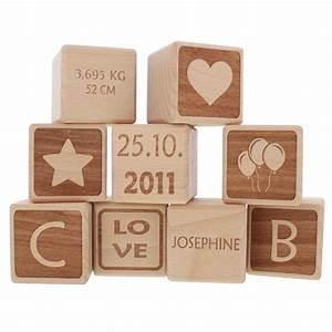 Cube En Bois Bébé : cubes en bois personnalis s pour b b ~ Dallasstarsshop.com Idées de Décoration