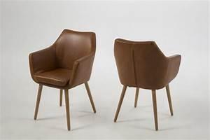 Chaise Enfant Avec Accoudoir : chaise avec accoudoirs nora cognac sb meubles discount ~ Teatrodelosmanantiales.com Idées de Décoration