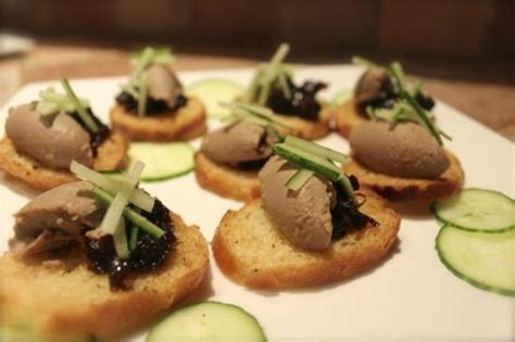 pate canapes chicken liver pate canape picture of chalet