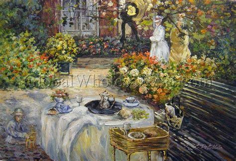 claude monet  luncheon oil paintings  canvas