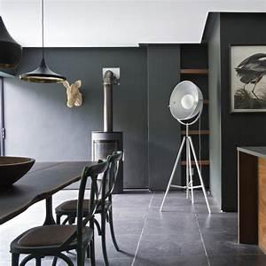 meuble de cuisine blanc quelle couleur pour les murs With sol gris quelle couleur pour les murs 11 choisir un sol noir les bons conseils