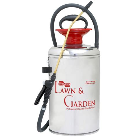 garden sprayer home depot chapin 2 gal lawn and garden series stainless steel
