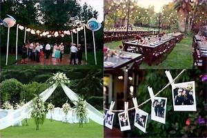 back yard weddings on a budget cheap backyard wedding With cheap backyard wedding ideas