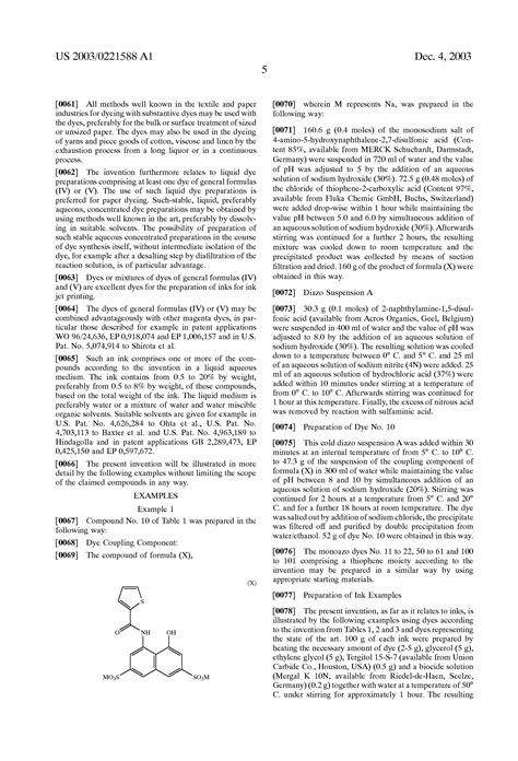 Patent US20030221588 - Monoazo dyes and their preparation
