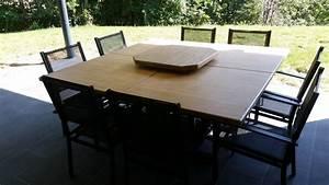 Table d'intérieur et d'extérieur en métal