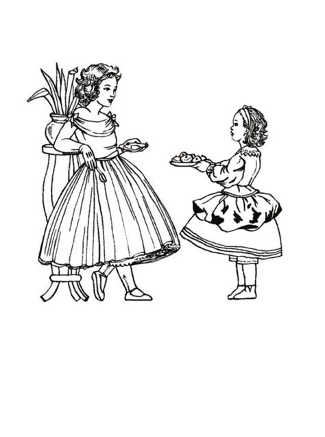 victorian coloring pages coloring home