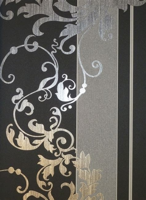 tapete schwarz grau myself vlies tapete ornamente schwarz grau 6858 15 glimmer 2 92 pro m 178 ebay