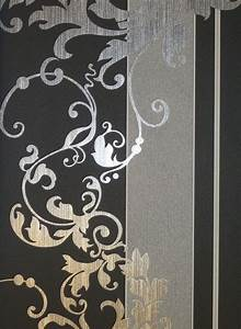 myself vlies tapete ornamente schwarz grau 6858 15 glimmer With balkon teppich mit schwarz graue tapeten