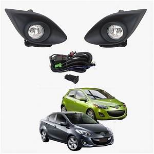Oem Style Fog Light Lamp Kit Assembly For Mazda 2 Demio