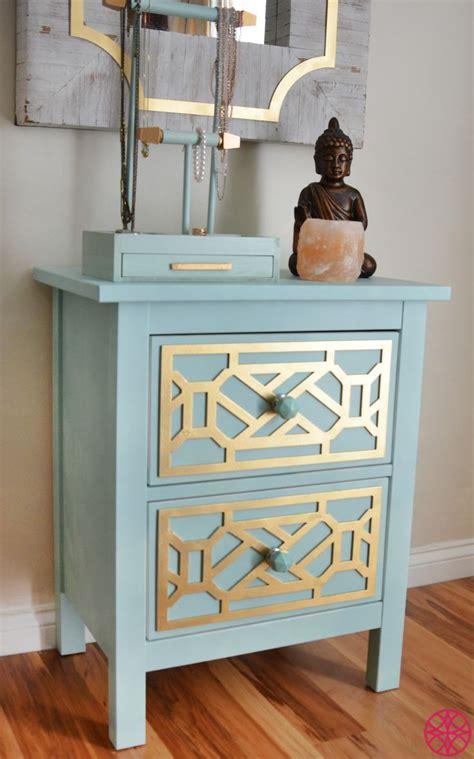 gold cheryle overlays   ikea hemnes nightstand