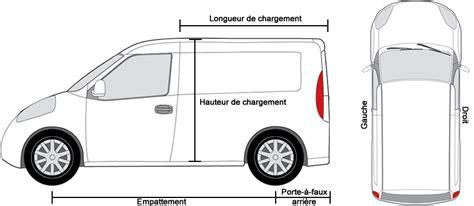 dimensions volkswagen vehicules utilitaires tous les