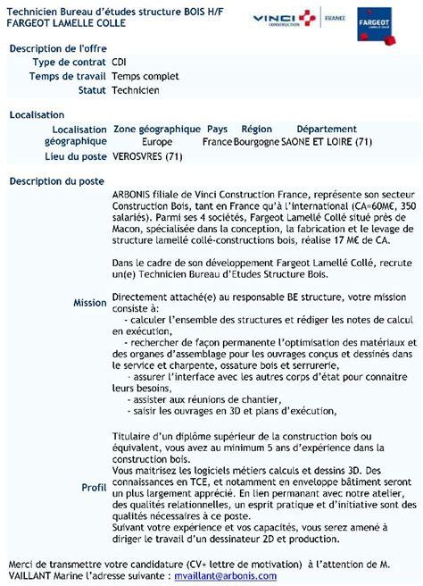 offre d emploi de technicien bureau d 233 tudes structure bois 71 offres d emploi lp lycee