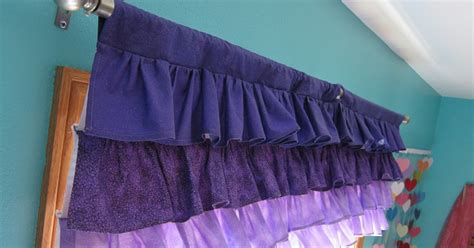 Little Mermaid Purple Ombre Ruffle Valance Curtain Tutorial (sorta Shower Curtain Liner Extra Long Clear Disney Cars Curtains Red Horse Head Rods Sedar Dubai Sheikh Zayed Road Eclipse Luxor Thermalayer Blackout Hanging With Tension Purple And White For Bedroom Pink Dress
