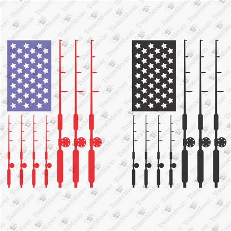 Multik.top have about 7 image for your iphone, android or pc desktop. USA Flag Fishing Rods SVG Cut File   TeeDesignery.com