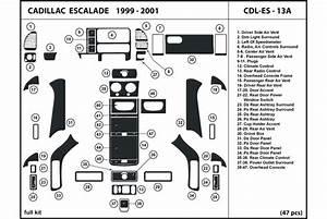 2000 Cadillac Escalade Dash Kits