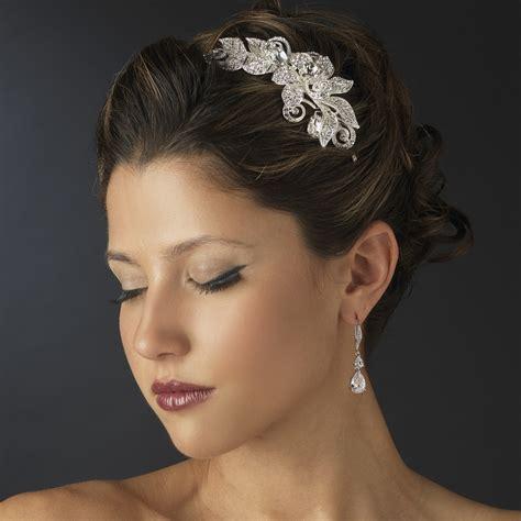 Rhinestone Floral Bridal Headband Headpiece - Elegant ...