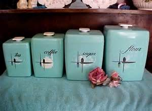 vintage kitchen canisters sets price reduced turquoise retro vintage kitchen canister set of