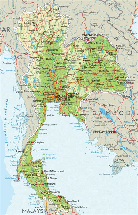 visit thailandinfo road map  thailand map