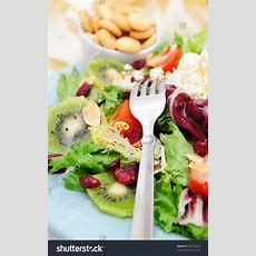 Mediterranean Style Salad With Different Types Of Lettuce
