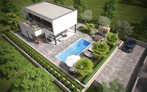 Modernes Haus Mit Garten by Modernes Haus Mit Pool Garten Und Meerblick In Malinska