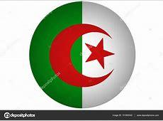 Algérie drapeau symbole bicolor 3d illustration vertical