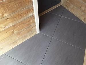 Carrelage Clipsable Exterieur : dalle artens carrelage ext rieur 2 cm gris anthracite ~ Premium-room.com Idées de Décoration