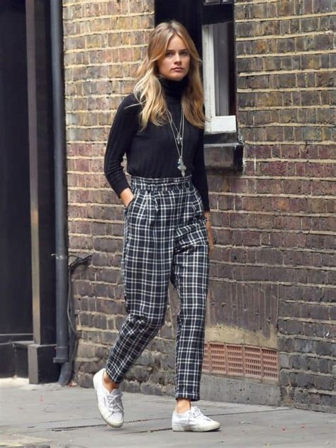 pants plaid wear cressida outfit bonas summer outfits ways season leg spring tartan sneakers fall wheretoget wide some chips fish