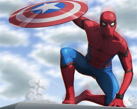 spiderman civil war artwork  hd superheroes
