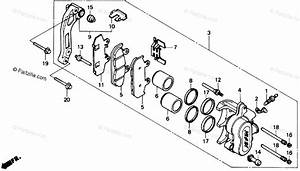 Honda Motorcycle 1989 Oem Parts Diagram For Front Brake
