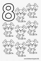 Number Coloring Outline Eight Pages Printable Numbers Rabbits Sheets Preschool Preschoolers Flashcards Learning Flashcard Worksheets Animal Thelearningsite Info Sheet Toddlers sketch template