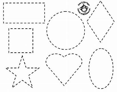 Coloring Shapes Easy Pages Preschoolers