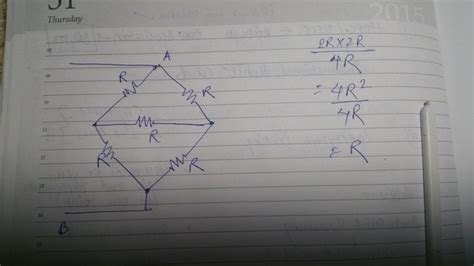 What Equivalent Resistance For The Circuit Quora
